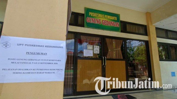 Satu Bidan Positif Covid-19, Pustu Gunung Gedangan Kota Mojokerto Ditutup Sepekan