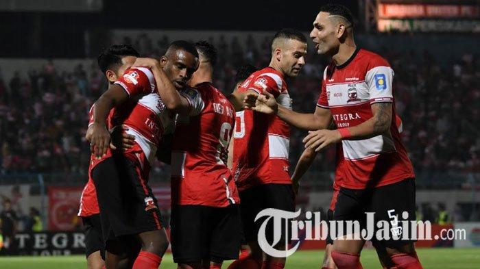 Hasil Kalteng Putra Vs Madura United 1-4, Laskar Sape Kerrab Akhiri Puasa Kemenangan