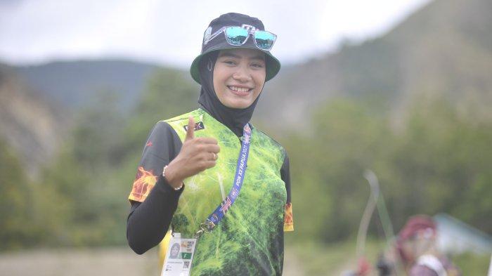 Pemanah asal Surabaya, Diananda Choirunisa sabet emas PON XX Papua 2021.
