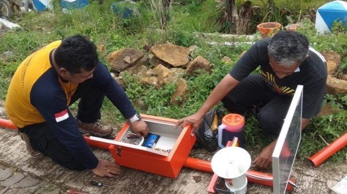 Antisipasi Bencana Hidrometeorologi, BPBD Ponorogo Pastikan EWS Banjir dan Longsor Berfungsi Baik