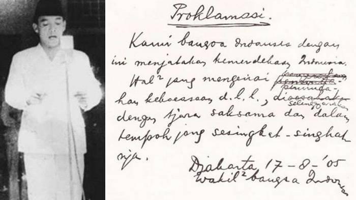 Terungkap Naskah Pidato Dirobek Soekarno Sebelum Baca Proklamasi, Fatmawati Jadi Saksi, Lihat Isinya