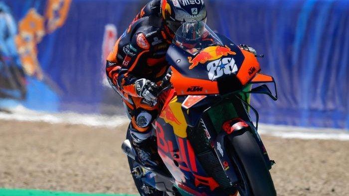 Hasil MotoGP Catalunya 2021 - Oliveira Tak Terkejar, Marquez-Rossi Crash dan Gagal Finis