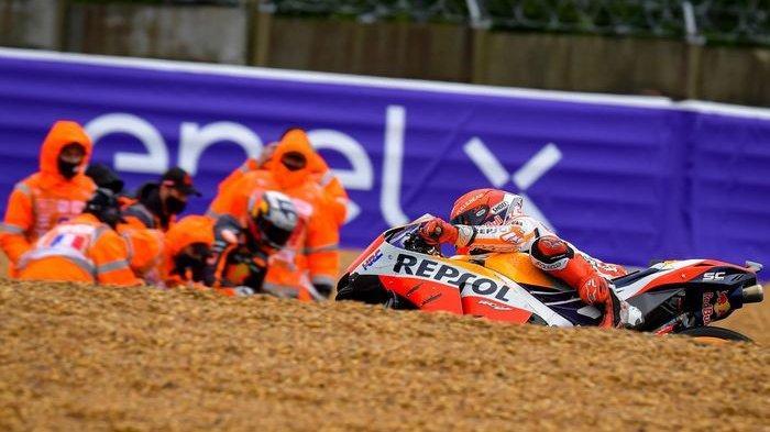 Cium Aspal hingga Gagal Finis di MotoGP Italia 2021, Marquez Tetap Berpikir Positif