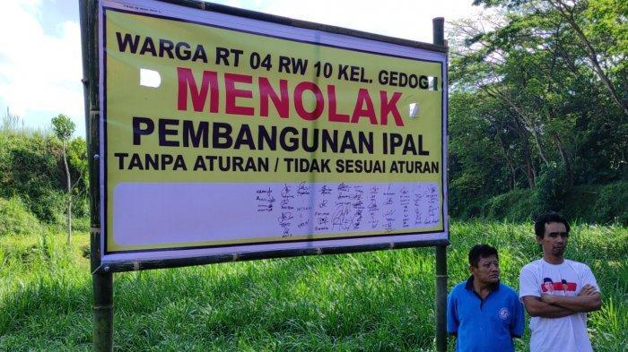 Ada Penolakan Warga, DPUPR Hentikan Sementara Pekerjaan Proyek Ipal Komunal di Gedog Kota Blitar