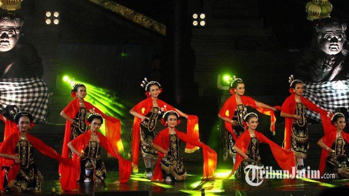 Tarian Daerah Mewarnai Penutupan Festival Panji Nusantara di Taman Krida Budaya Jawa Timur