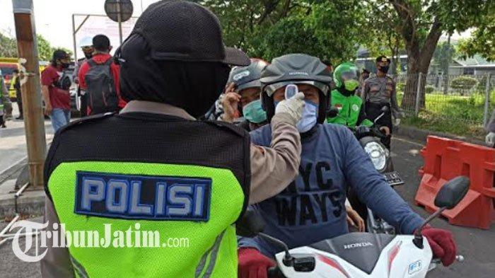 Hari ke-4 PSBB Surabaya: Ribuan Kendaraan Pelat Madura di Check Point Suramadu Diminta Putar Balik