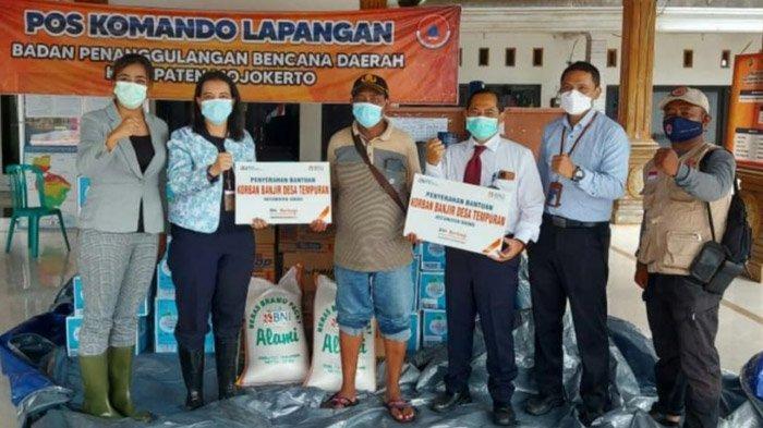 Bantu Ringankan Beban, BNI Salurkan Bantuan untuk Korban Banjir di Tempuran Mojokerto