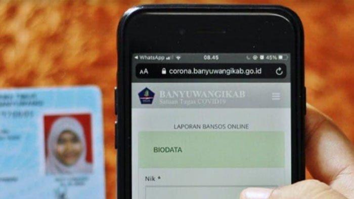 Belum Dapat Bansos, Warga Banyuwangi Bisa Lapor via Online, Begini Cara dan Syaratnya