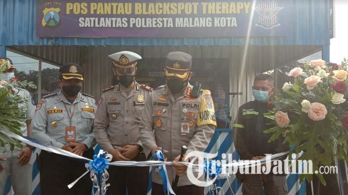 Tekan Angka Kecelakaan Lalu Lintas, Polresta Malang Kota Resmikan Pos Pantau Blackspot Therapy