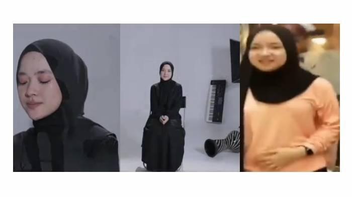 Penampilan Nissa Sabyan di video klip lagu Sapu Jagat tampak kurus, kini diisukan hamil besar.