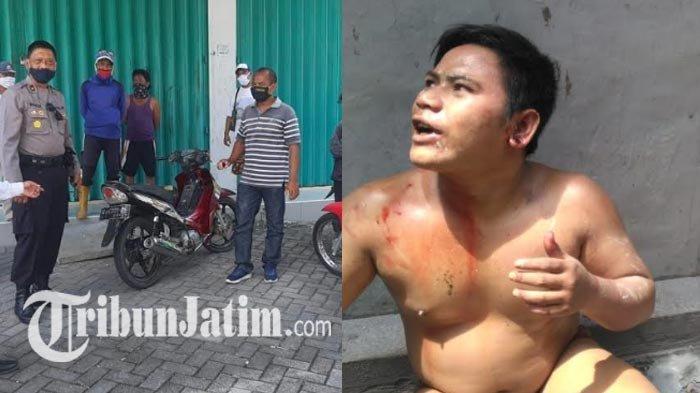 Pencuri Nangis Jongkok Cuma Pakai Celana Dalam di Selokan Gresik, Dikepung Warga, Minta Ampun & Maaf