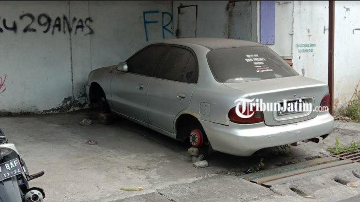 Terjadi Lagi, Aksi Pencurian Pelek Mobil Terjadi di Kota Malang
