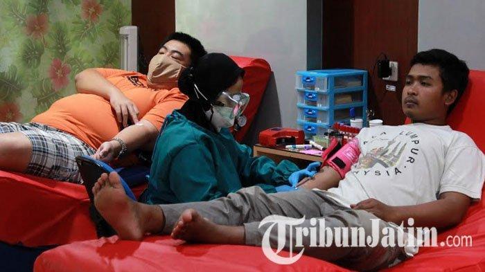 PMI Informasikan Covid-19 Tak Ditularkan Lewat Darah,Warga Kota Kediri Kembali Antusias Donor Darah