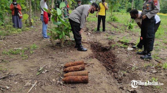 BREAKING NEWS - 4 Mortir Ditemukan di Sepetak Ladang Jagung Petani Ponorogo