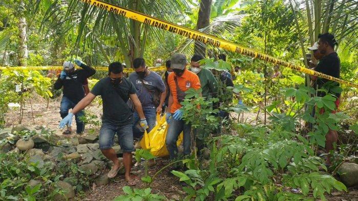 Penemuan mayat seorang pria di sebuah ladang di Trenggalek