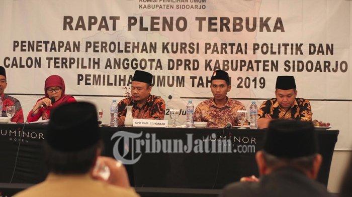 Gugatan Caleg Gerindra di Sidoarjo Tak Dilanjutkan MK, KPU Sidoarjo Langsung Tetapkan Hasil Pemilu