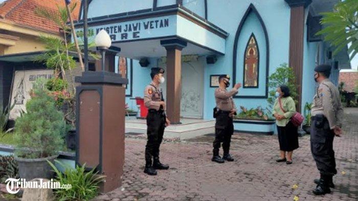Polres Kediri Terjunkan Tim Penjinak Bom, Amankan Gereja dari Ancaman Teroris Pada Perayaan Paskah
