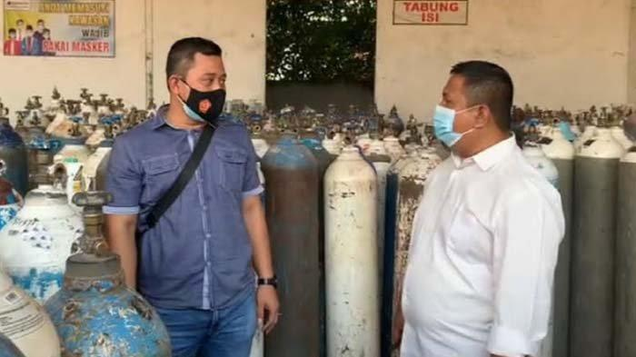 Cek Ketersediaan Oksigen di Masa Pandemi Covid-19, Polisi di Tuban Pastikan Stok Aman