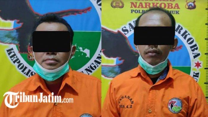 2 Petani Diamankan di Mapolres Nganjuk Diduga Edarkan Narkoba, Polisi Sita Sabu 0,3 Gram