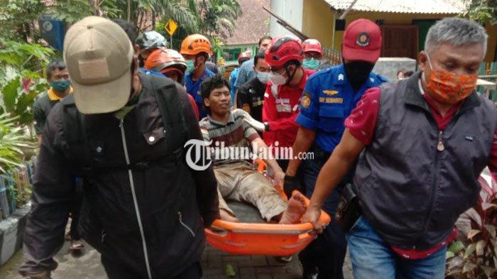 Panik Terlibat Laka Lantas, Pengemudi Truk Boks di Malang Tabrak Tiang Telepon Lalu Kabur ke Sungai