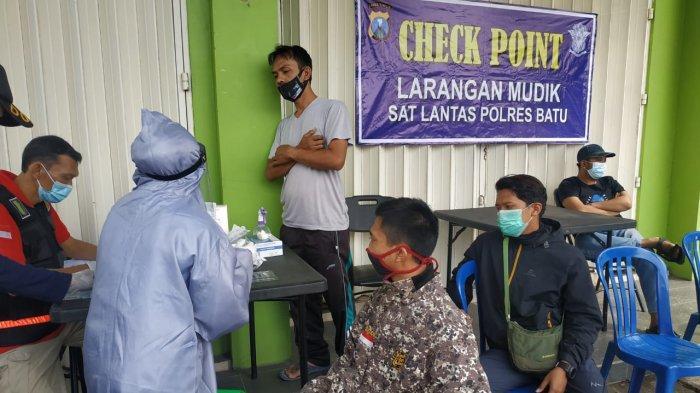 Antisipasi Pemudik dan Wisatawan, Polres Batu Perketat Pemeriksaan di Check Point