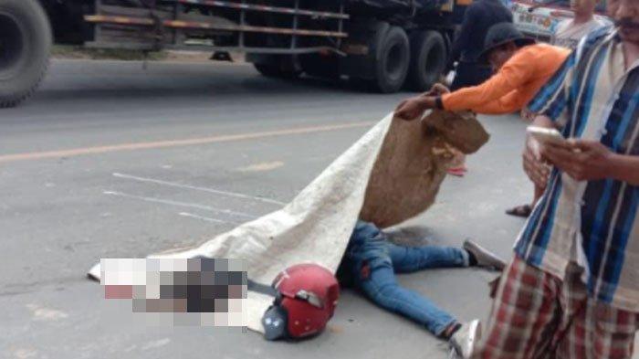 Gagal Nyalip, Pengendara Motor di Tuban Terpental Lalu Dihantam Truk Box hingga Tewas