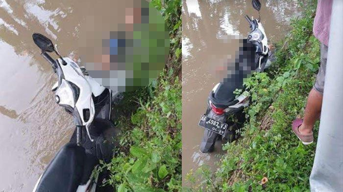 Motor Serempet Pohon Lalu Terjun Masuk Sungai Desa Plosojenar, Pengemudi Umur 16 Meninggal di Tempat