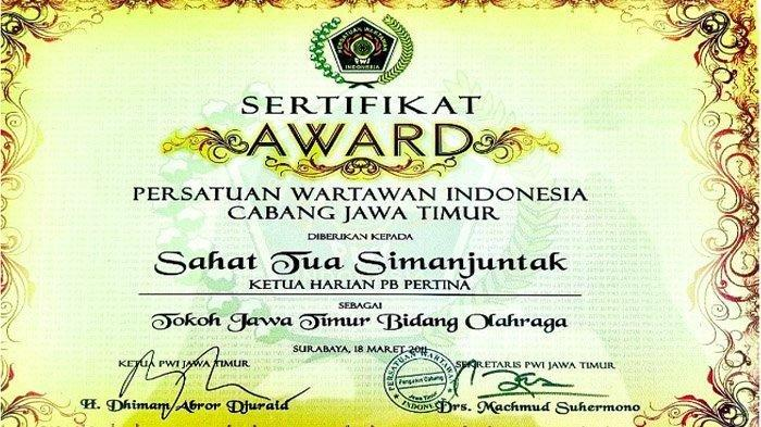 Sahat Tua Simanjuntak, Tokoh Jawa Timur Bidang Olahraga yang Menjadi Wakil Ketua DPRD Jatim