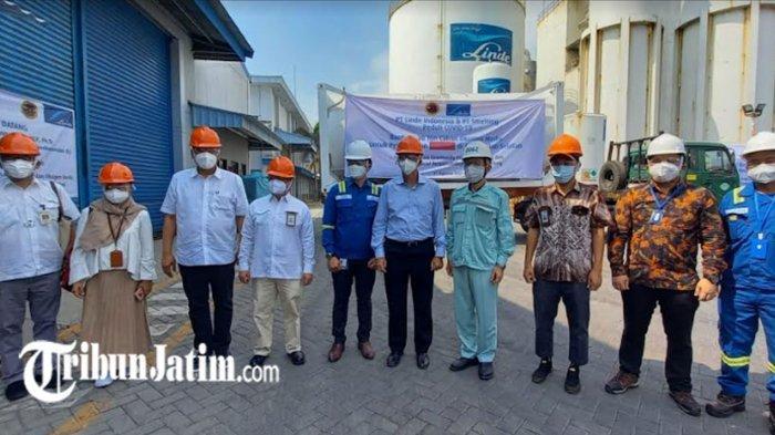 Bantu Penanganan Covid-19 di Kalimantan, Perusahaan di Gresik Kirim Isotank Oksigen Volume 20 Ton