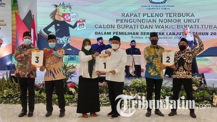 Dilarang Gelar Rapat Umum di Tengah Pandemi, Tiga Pasangan Cabup-cawabup Pilkada Tuban Bereaksi