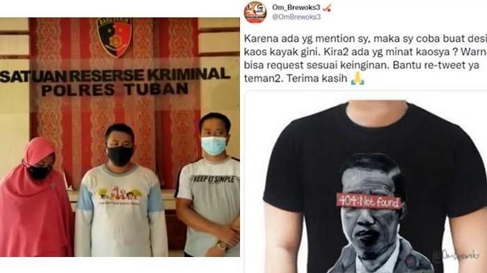 Motif Pria di Tuban Posting Kaus 'Jokowi 404:Not Found' di Twitter, Polisi: Jualan