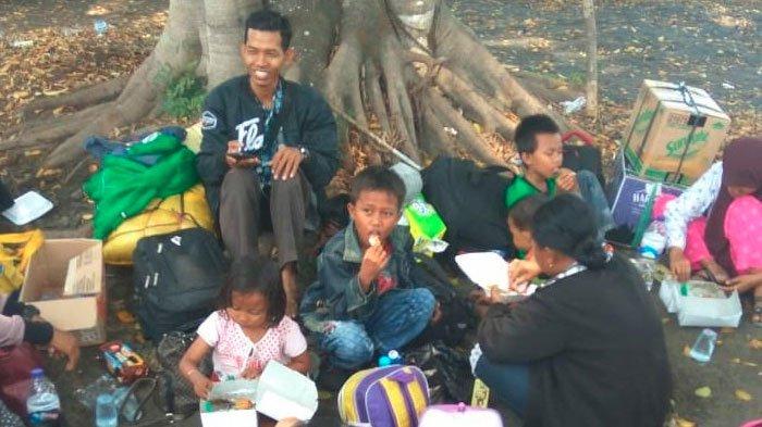 Tiba di Malang, Begini Ekspresi Kebahagiaan Puluhan Pengungsi yang Datang dari Kota Palu