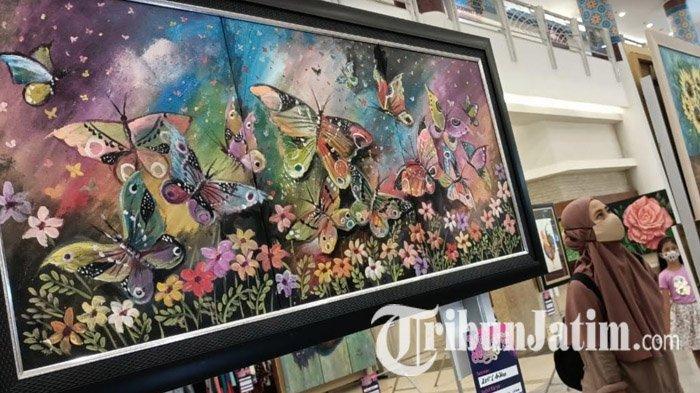Rayakan Hari Ibu, Sembilan Wanita Pelukis Pamerkan Karyanya di Royal Plaza Surabaya