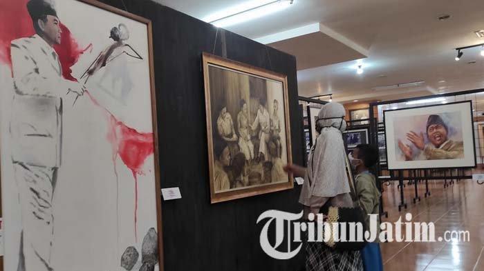Kenalkan Sisi Lain Sosok Bung Karno, Seniman Gelar Pameran Lukis Jejak Putra Sang Fajar di Blitar