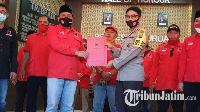 DPC PDIP Pasuruan Datangi Polres, Minta Usut Pelaku Pembakaran Bendera: 130 Ribu MassaTerusik