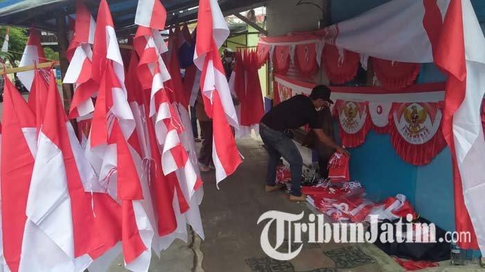Omzet Penjualan Bendera di Masa Pandemi Covid-19 di Kota Batu Turun hingga 50 Persen: Semakin Lesu