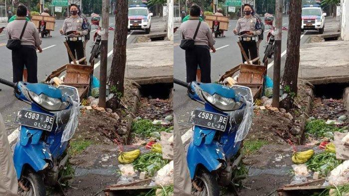 Diduga Mengantuk, Penjual Sayur Keliling di Malang Tabrak Pohon hingga Masuk Selokan