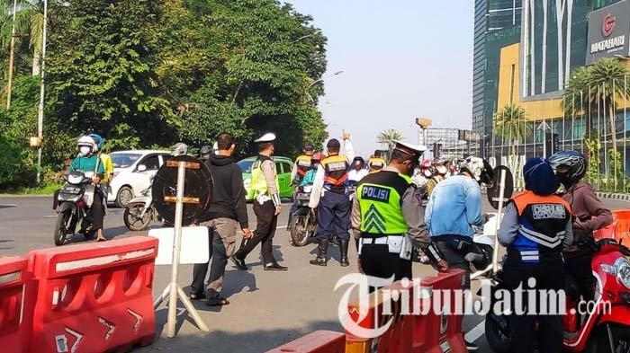 Hari Kedua PPKM Darurat di Surabaya Terpantau Lengang, Polisi: Ratusan yang Diputar Balik