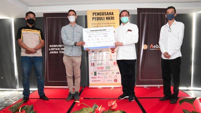 Komunitas Lintas Iman Jawa Timur dan Pengusaha Peduli NKRI Bagikan Sumbangan Paket Buka Puasa