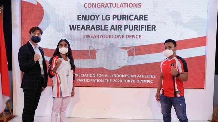 LG PuriCare Wearable Air Purifier untuk Atlet Indonesia Kelas Dunia sebagai Apresiasi Prestasi