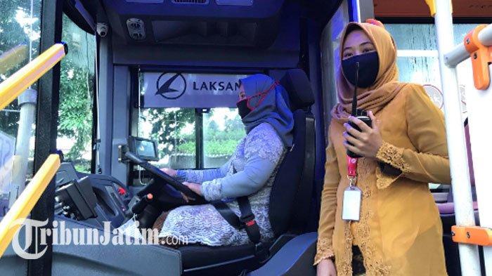 Peringati Hari Kartini, Sopir dan Helper Wanita Suroboyo Bus Kompak Berkebaya Layani Penumpang