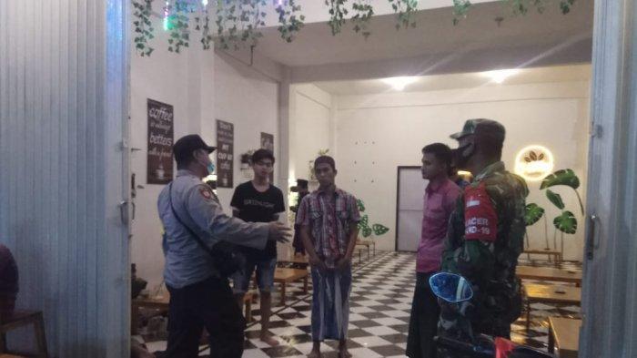 TNI-Polri Razia Sejumlah Cafe di Palengaan Pamekasan, Ingatkan Pemilik dan Pengunjung Patuh Prokes