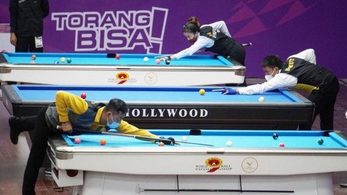 PON XX Papua 2021 - Erwin Kurniawan dan Rudy Susanto Sumbang Emas Bagi Jatim dari Cabor Biliar