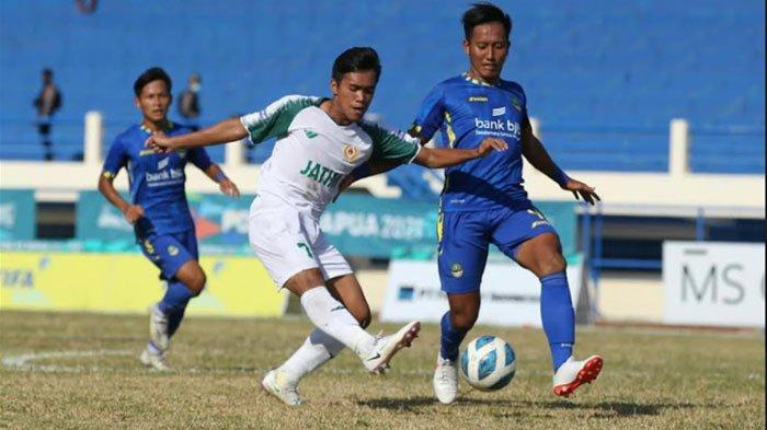 Hasil Sepak Bola Jatim Vs Jabar Berakhir Imbang di Babak Pertama