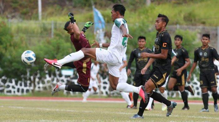 Tim Sepak Bola Jatim Vs Jateng Menutup Babak Pertama dengan Hasil Imbang