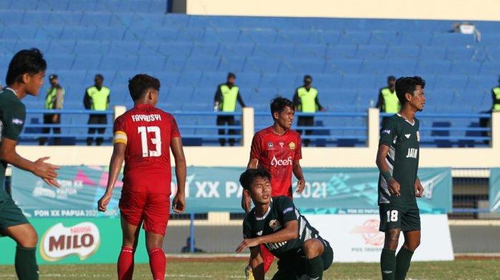 Hasil Sepak Bola PON XX Papua 2021 - Kalah 1-2 dari Aceh, Jatim Gagal Melaju Ke Final