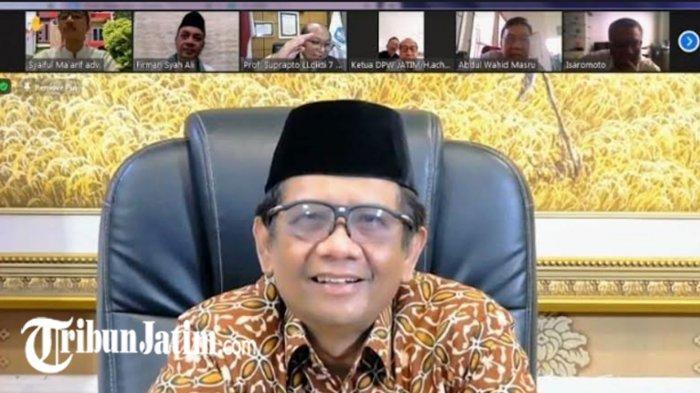 Menkopolhukam RI Mahfud MD Lakukan Silaturahmi Virtual dengan Tokoh Madura Sedunia, Ini yang Dibahas
