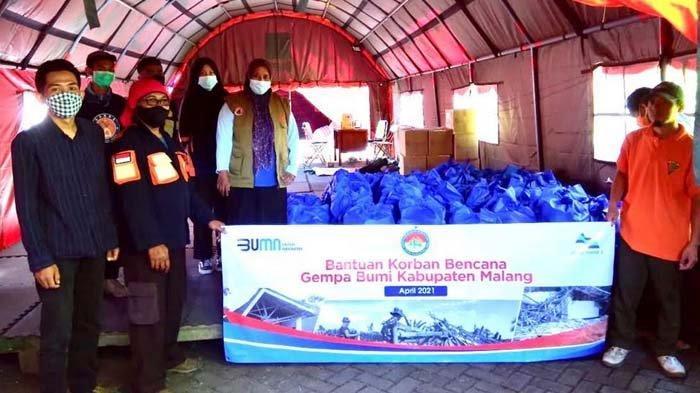 Perum Jasa Tirta I Kirim Bantuan 200 Paket Sembako untuk Korban Gempa Malang