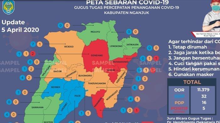 UPDATE CORONA di Nganjuk Senin 6 April, Positif Covid-19 Jadi 5 Orang, 11.379 Warga Berstatus ODR