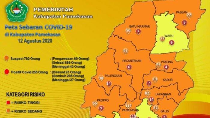 UPDATE CORONA di Pamekasan Rabu 12 Agustus 2020, 2 Orang Terkonfirmasi Positif, 205 Pasien Sembuh